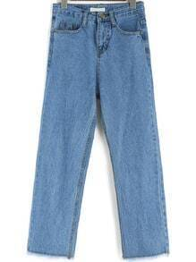 Blue Pockets Loose Denim Pant