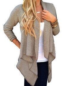 Khaki Long Sleeve Asymmetrical Coat