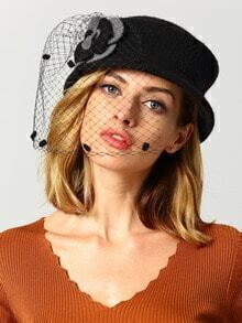 Black Vintage Grid Hat