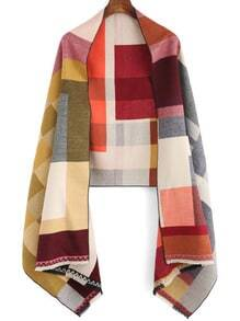 Colour Geometric Patterned Fringe  Scarve