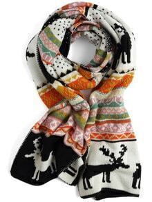 Colour Deer Print Scarve