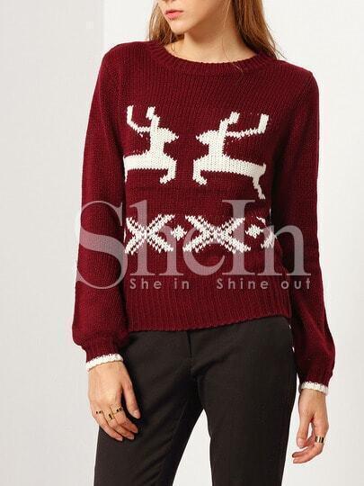 Jersey manga larga estampado -rojo