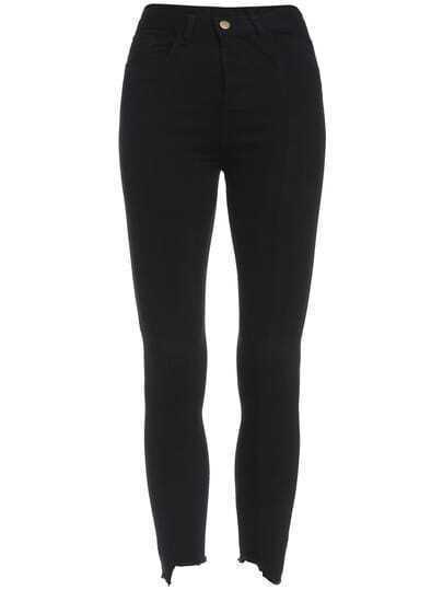 Black Slim Pockets Denim Pant
