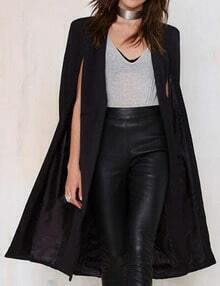 Women Black Knee Length Cape