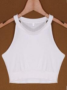 White Round Neck Sexy Cami Top