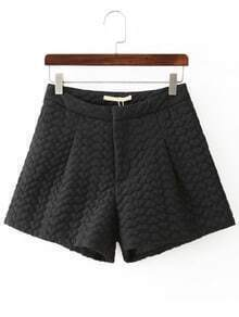 Black Hearts Jacquard Shorts