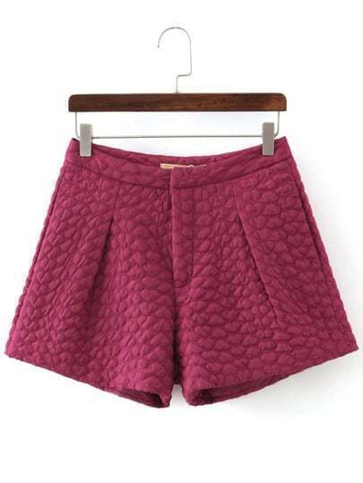 Rose Red Hearts Jacquard Shorts