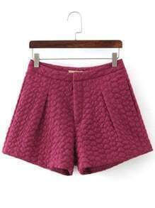 Rose Red Hearts Jacquard Shorts