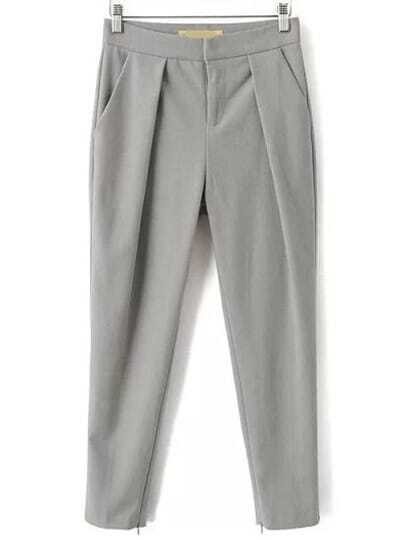 Grey Slim Pockets Pant