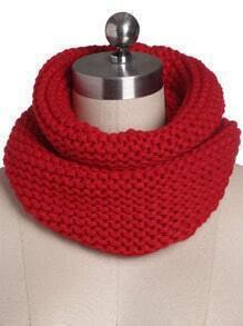 Red Casual Knit Scarve
