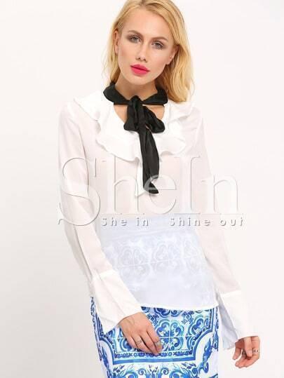 Белая Блузка С Бантом В Спб