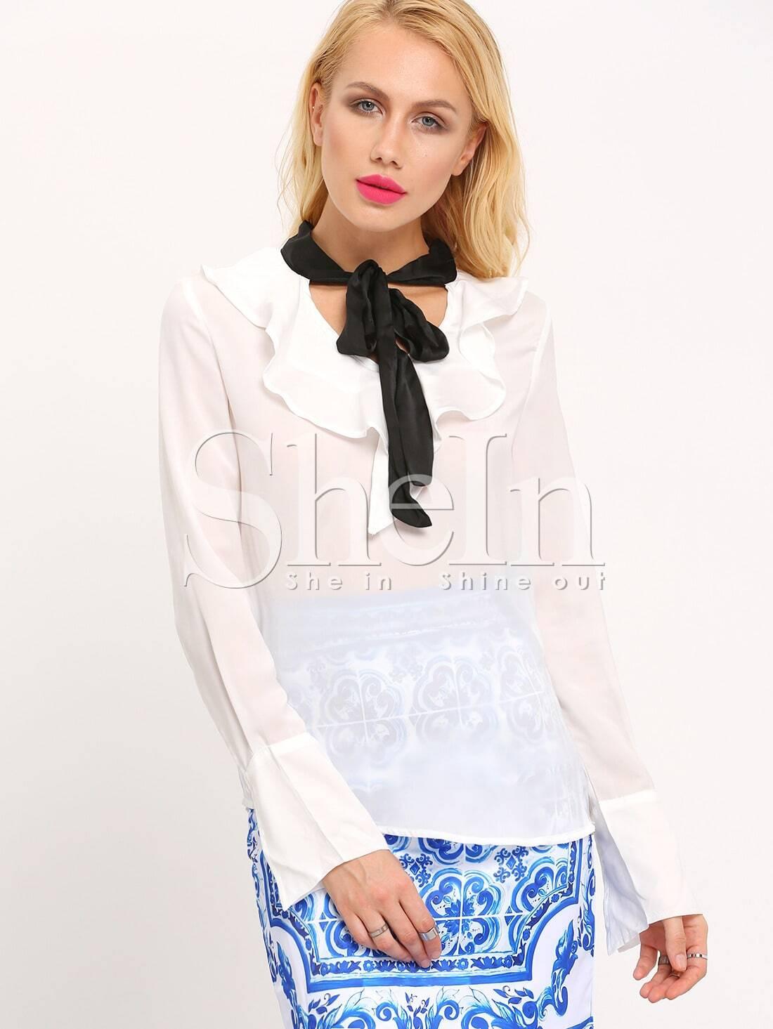 Блузка С Жабо Купить В Уфе
