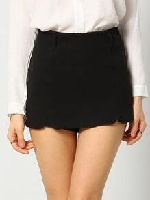 Black Slim Skirt Shorts