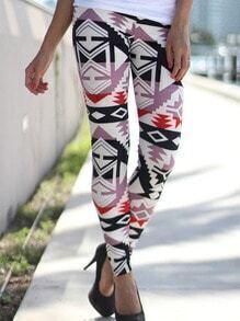 Geometric Red Print Leggings