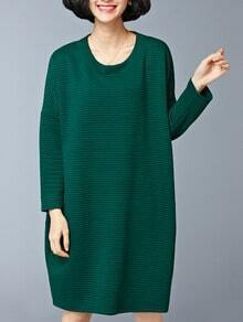 Green Pocket Oversized Thicken Dress