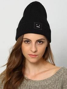 Black Smile Embellished Hat