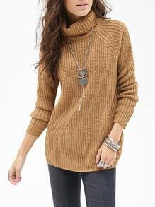Apricot Long Sleeve Turtleneck Sweater