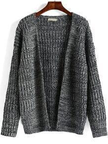 Grey Long Sleeve Chunky Loose Cardigan