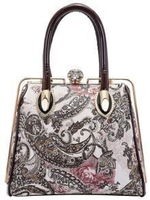 Coffee Paisley Print Stereotypes Bag