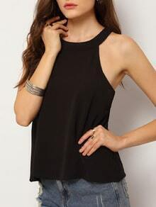 Black Backless Loose Cami Top