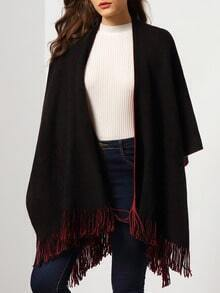 Black Red Tassel Loose Cape