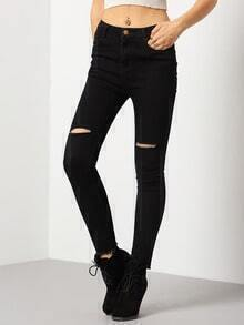 Black Ripped Skinny Denim Pant