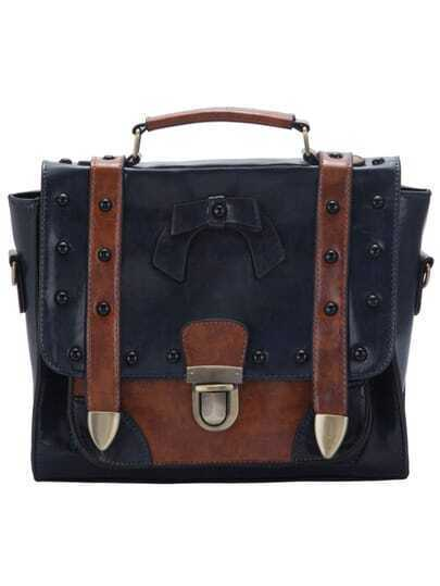 Push Lock Bow Rivets Shoulder Bags