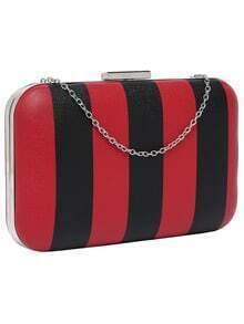 Push Lock Color Block Shoulder Bag