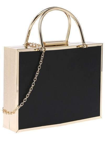 Black Chain PU Tote Bag