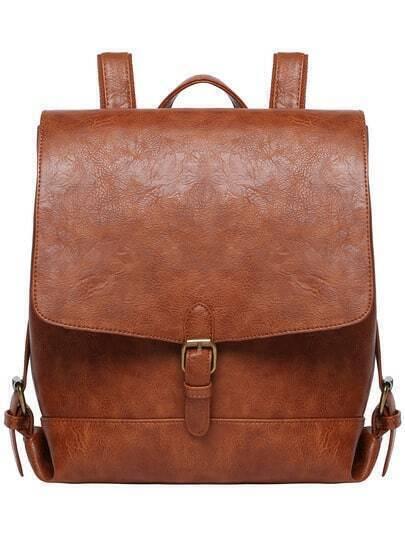 Buckle PU Backpacks