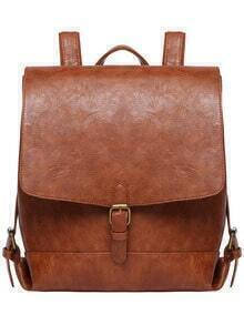 Buckle PU Backpacks