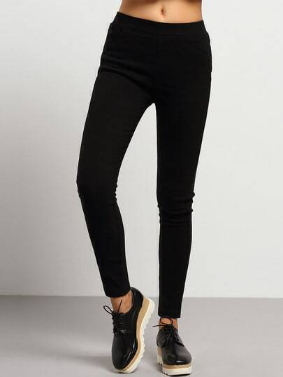 Black Slim Thicken Pant
