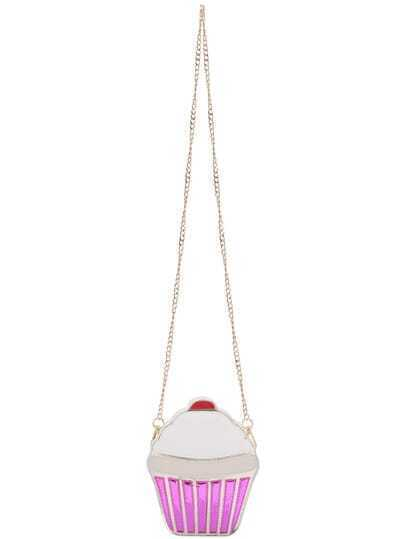 White Ice Cream PU Chain Bag