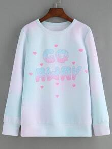 Ombre Letter Print Sweatshirt