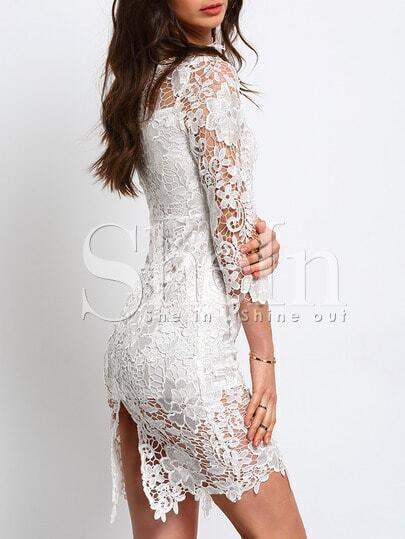 Облегающее кружевное платье фото