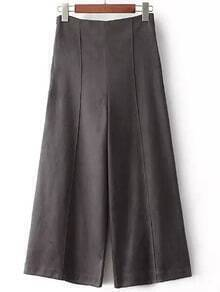 Dark Grey Wide Leg Pant