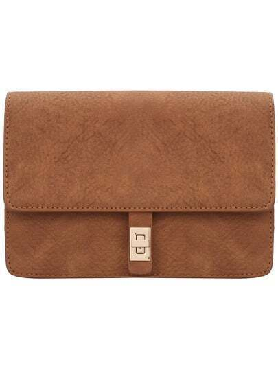 Women Camel Twist Lock Bag