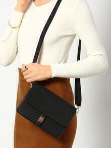 Women Black Twist Lock Bag