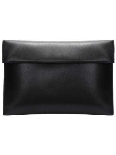 Black Magnetic PU Clutch Bag
