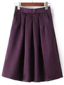 Purple Midi Flare Skirt
