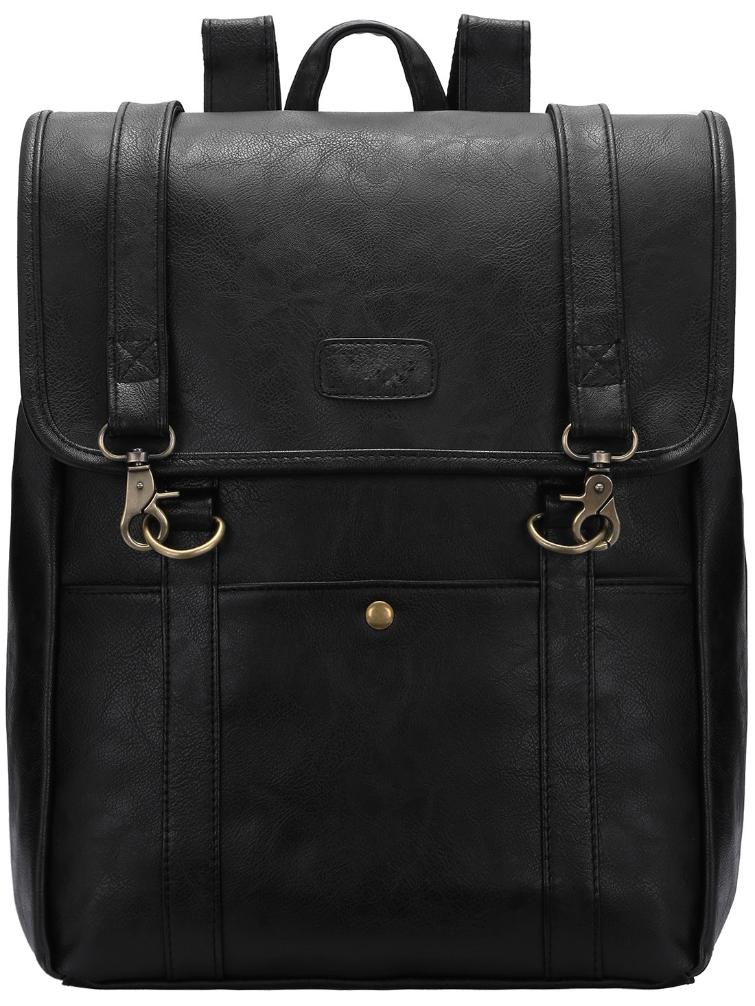 Black Buckle PU BackpacksBlack Buckle PU Backpacks<br><br>color: Black<br>size: None