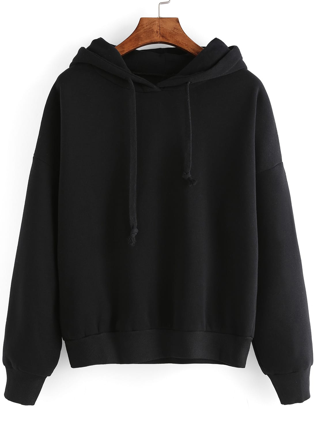 Black Hooded Long Sleeve Crop Sweatshirt интегральная микросхема nxp 100
