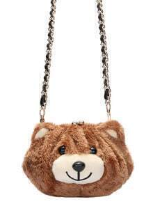 Kiss Lock Bear Chain Bag