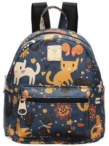 Blue Cats Printing Backpacks