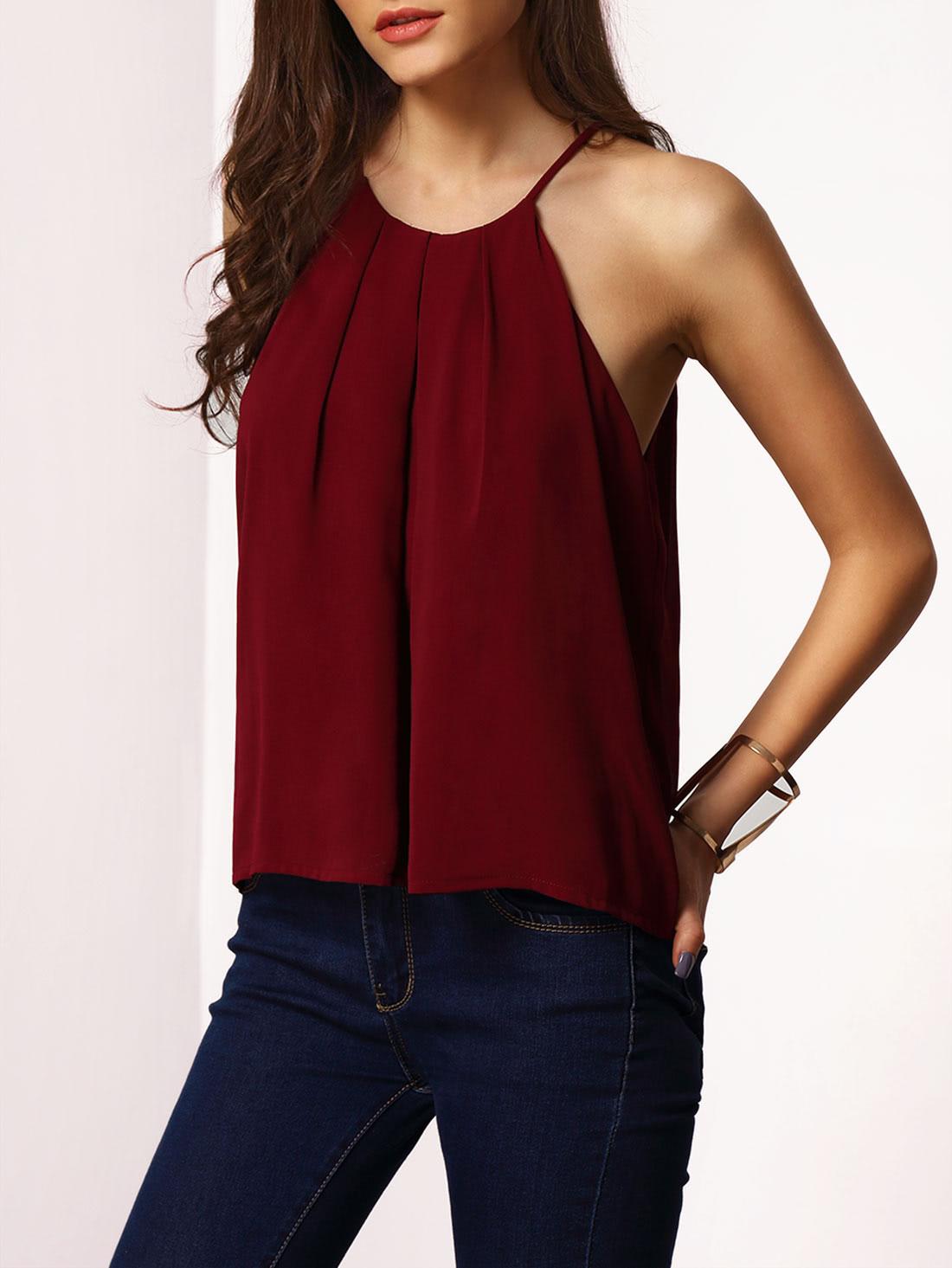Lace-up Cami Top vest151215001