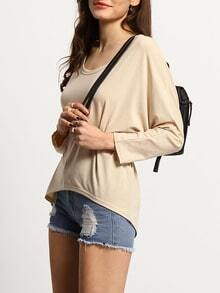 High Low Loose Apricot T-shirt