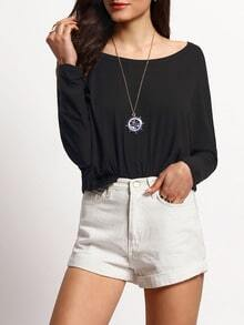 High Low Loose Black T-shirt