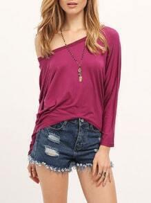 High Low Loose Purple T-shirt