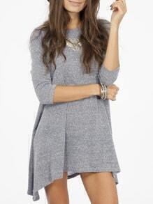 Grey Asymmetric T-shirt Dress