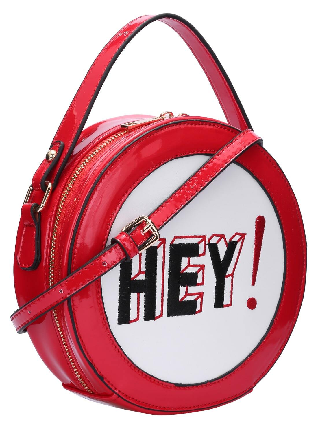 red letter embroidered round shape cross body bag shein With red letter bags